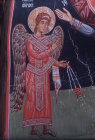 Archangel Gabriel, mural in the Church of the Holy Cross at Platanistasa, Cyprus painted by Philip Goul in the 15th century