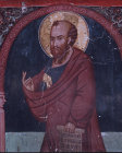 St Paul, mural in the Church of The Holy Cross at Platanistasa in Cyprus painted by Philip Goul in the 15th century