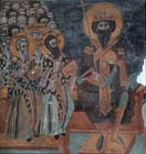 Third Ecumenical Council held at Ephesus 431 AD, wall painting by Symeon Axenti 1513, Church of St Sozomenos, Galata, Cyprus