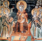 Second Oecumenical Council, 381, held in Constantinople, 1513 wall painting by Symeon Axenti, church of St Sozomenus, Galata, Cyprus, detail