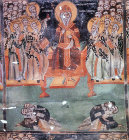 Second Oecumenical Council, 381, held in Constantinople, 1513 wall painting by Symeon Axenti, church of St Sozomenus, Galata, Cyprus