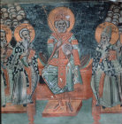 4th Oecumenical Council 451 AD held at Chalcedon 16th century wall painting St Sozomenos Church