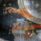 Hand of God blessing, Symeon Axenti, sixteenth century, Church of St Sozomenus, Galata, Cyprus