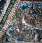 Cyprus, Kalopanayiotis, Latin Chapel in the Monastery Church of St John Lampadistis, the Nativity, 16th century wall painting