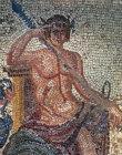 Paphos Cyprus Dionysus detail 3rd century  Roman mosaic in a Villa