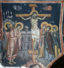 The Crucifixion,  Kalopanayiotis, Cyprus, Church of St Heracleidius in the Monastry of Saint John Lampadistis