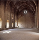 Bellepais Abbey,  fourteenth century refectory, Northern Cyprus