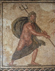 Paphos Cyprus Poseidon 3rd century  Roman mosaic in a villa