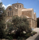 Cyprus, exterior of the Greek Orthodox Church at St Barnabas Monastery near Salamis