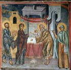 Cyprus, Paleochorio, Church of the Transfiguration of the Saviour, the Presentation, mural, 15th century
