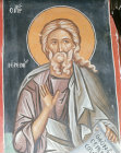 The Prophet Jeremiah 15th century  mural in the Church of the Saviour at Paleochorio Cyprus
