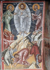 Cyprus, Paleochorio, the Transfiguration, 15th century mural in the Church of the Transfiguration of the Saviour