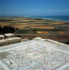 Mosaic floor of fifth century Roman baths, Curium, Cyprus