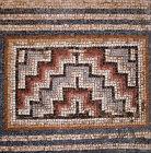 Mosaic floor, detail of pattern, Roman baths, Curium, Cyprus