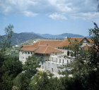 Chrysoroyiatissa Monastery, dedicated to Our Lady of the Golden Pomegranate, founded 1152, present building 1770, Troodos Mountains,Cyprus