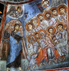 Cyprus, St Neophytos Monastery mural in the cave church on the wall of the nave,  the Agony in the Garden 1196 AD