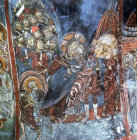 Cyprus, St Neophytos Monastery mural in the cave church on the wall of the nave, the Betrayal 1196 AD