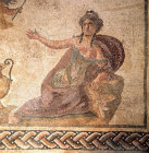 Paphos Cyprus  Roman mosaic Amymone detail