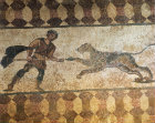Paphos Cyprus mosaic from Roman villa of a Hunter and Leopard