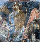 Cyprus, St Neophytos Monastery, the Resurrection, Byzantine wall painting 1183 AD