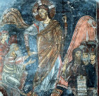 Cyprus, St Neophytos Monastery, the Anastasis, Christ, Adam and Eve, St John the Baptist and  Kings Solomon and David bottom right
