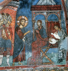 Cyprus, St Neophytos Monastery, Pilate washing his hands 1183 AD