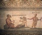 Paphos Cyprus mosaic from Roman villa Dionysos Akme and Ikarios