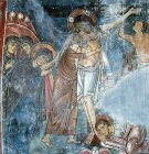 Cyprus, the Deposition, mural in the Church of St Neophytos near Paphos  1196 AD