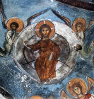 Cyprus, the Ascension of Christ and two Angels, St Neophytos Monastery