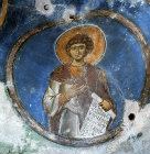 Cyprus, the Prophet Daniel in the cave Church of St Neophytos Monastery