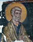 Cyprus, Louvaras, Church of St Mammas, St Peter 15th century mural by the artist Philip Goul
