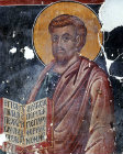 Cyprus, Louvaras, Church of St Mammas, St Barnabas, 15th century mural by artist Philip Goul
