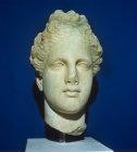 Aphrodite, Greek goddess of love, marble head, Nicosia Museum, Cyprus