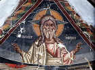 Cyprus, Louvaras, Church of St Mammas, God the Father painted by Philip Goul 15th century mural
