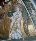 Archangel Gabriel, 7th century mosaic, Church of Panagia Angeloktistos, Kiti, Cyprus