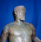Paphos Cyprus Bronze statue of Septimus Severus detail 193-211AD