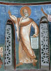 Jonah, one of twelve prophets, 1192, dome, Church of Panagia Tou Arakou, Lagoudera Monastery, Cyprus
