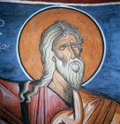 Isaiah one of the 12 Prophets in the Dome of the Church of Panagia Tou Arakou in Lagoudera monastery Cyprus 1192 AD