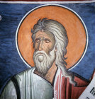 Jeremiah one of the 12 Prophets in the Dome of the Church of Panagia Tou Arakou Lagoudera monastery Cyprus 1192 AD