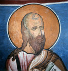 Elisha one of the 12 Prophets in the dome of the Church of Panagia Tou Arakou at Lagoudera monastery Cyprus 1192 AD
