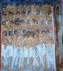 Cyprus, Asinou, the Forty Martyrs of Sebaste, a mural in the Church of Panagia Phorbiotissa 1105-6 AD