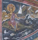 Personification of the Sea, 14th century wall painting, Church of Panagia Phorbiotissa, Asinou, Cyprus