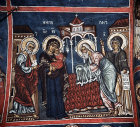 Cyprus, Asinou, Church of Our Lady of the Pastures or Panagia Phorbiotissa, the Presentation, 14th century mural