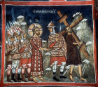 Cyprus, Asinou, the carrying of the Cross