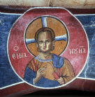 Cyprus, Lagoudera,  12th century, Christ Emmanuel, mural in the Church of Panagia Tou Arakou