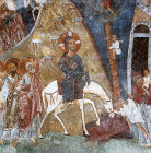 Cyprus, Christ entering Jerusalem, Church of St Nicholas of the Roof,  Kakopetria,  11th century