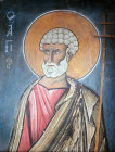St Peter, mural in the Church at Lagoudera Monastery Cyprus 12th century