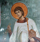 St Romanus the Melodist, sixth century Syno-Greek hymnographer, 1192, Church of Panagia Tou Arakou, Lagoudera, Cyprus