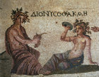 Paphos Cyprus Dionysus and Akme mosaic in a Roman Villa 3rd century AD