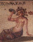 Paphos Cyprus Akme detail 3rd century AD mosaic from Roman Villa